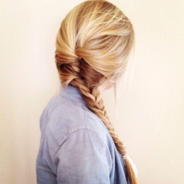 Fishtail side braid