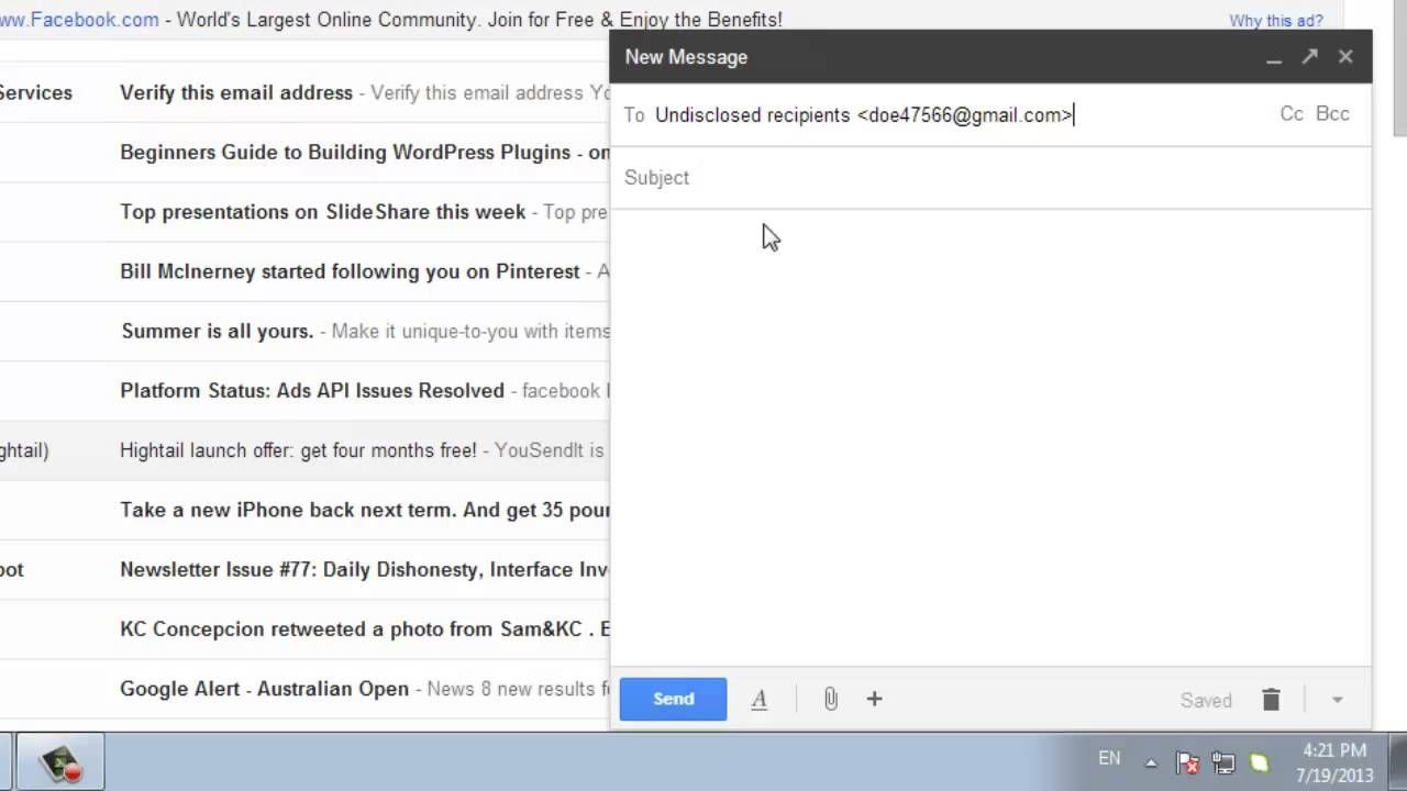 How to Send an Email to Undisclosed Recipients from Gmail