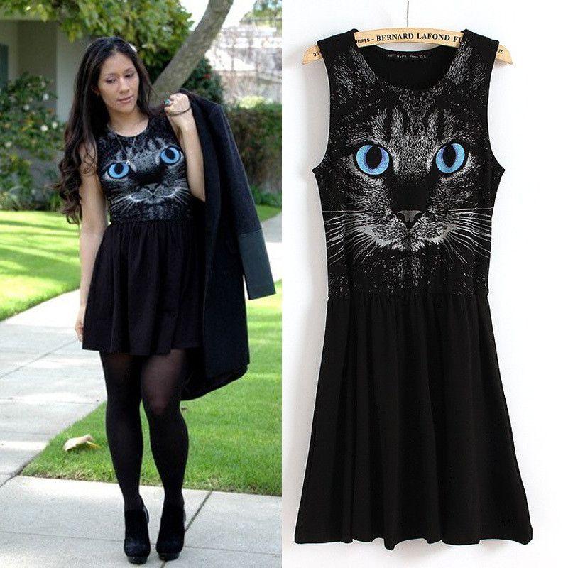 Shabby Chic Cat Face Dress