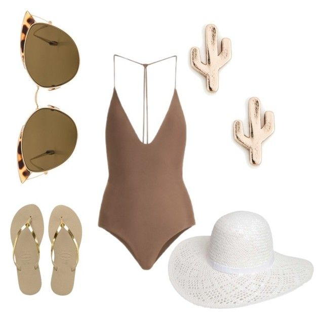 """Summer"" by anidominguezc on Polyvore featuring moda, Jade Swim, Sole Society, Havaianas, Ahlem y Dorothy Perkins"