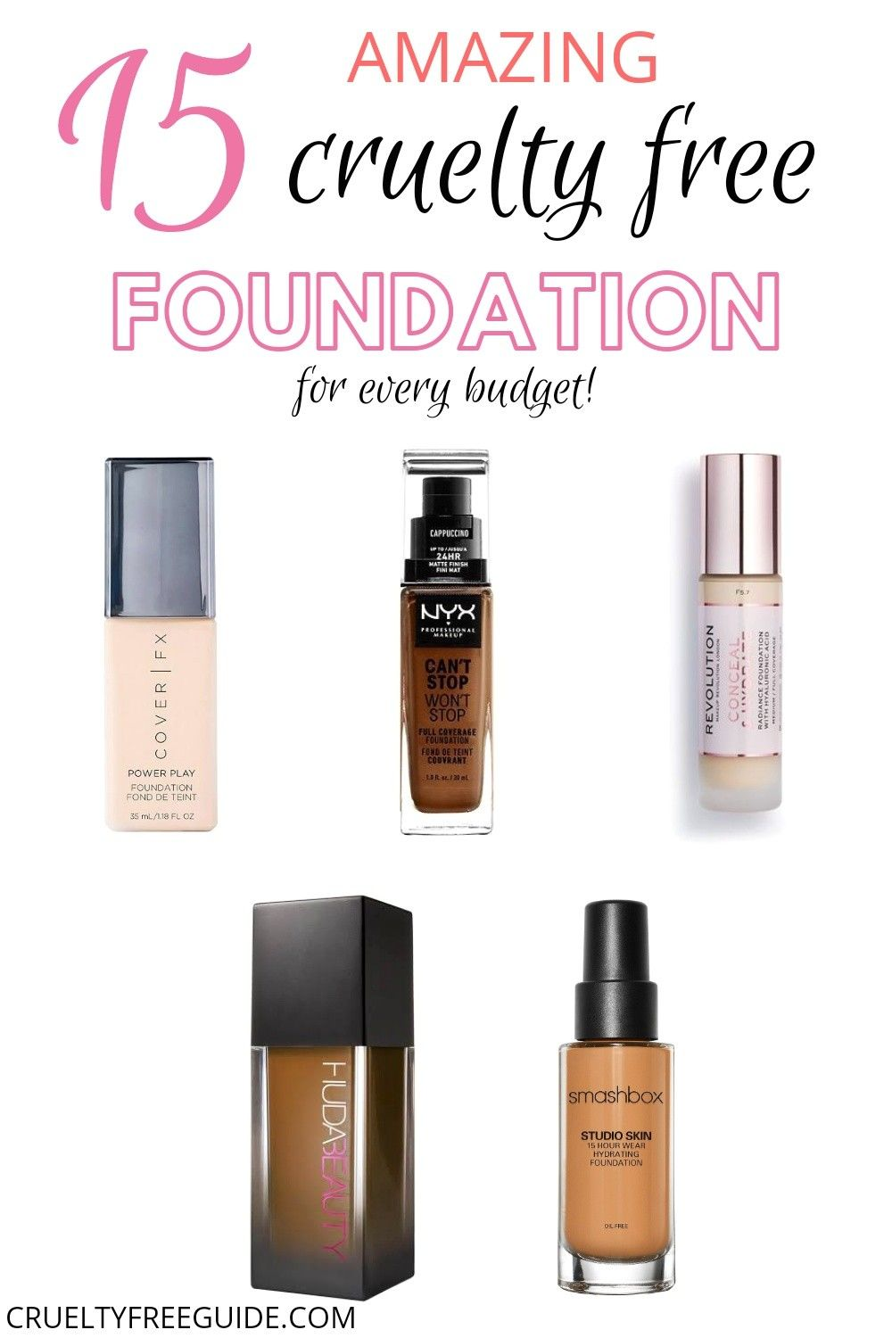 13 Amazing Drugstore Foundations That Are Cruelty Free 2020 In 2020 Drugstore Foundation Smashbox Studio Skin Foundation Best Drugstore Foundation