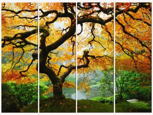 Startonight Canvas Wall Art Amazing Maple Trees USA Design for Home ...