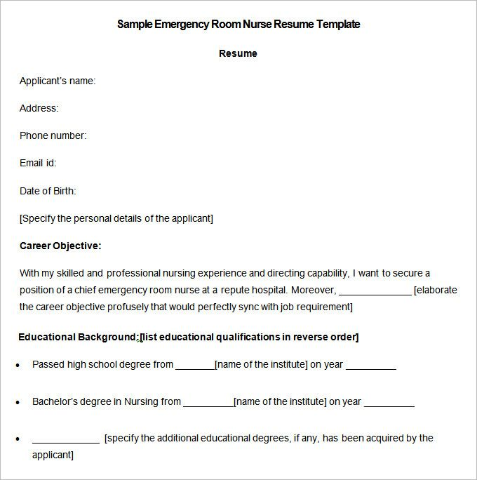 Sample Emergency Room Nurse Resume Templates , RN Case Manager Resume ,  Looking For Inspiration For  Emergency Nurse Resume