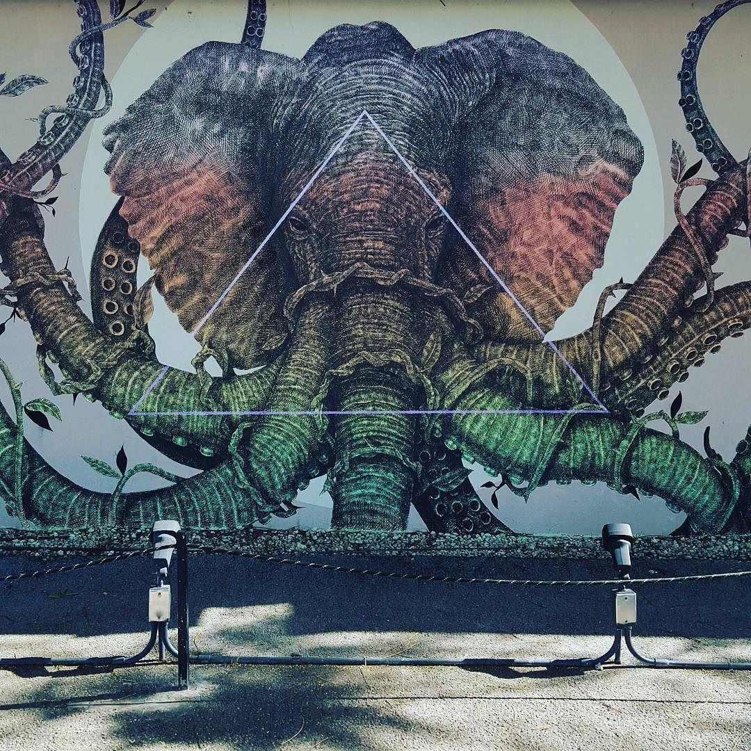 octopus elephant wynwoodart wynwoodwalls wynwood miami elephant octopus boho art mural. Black Bedroom Furniture Sets. Home Design Ideas