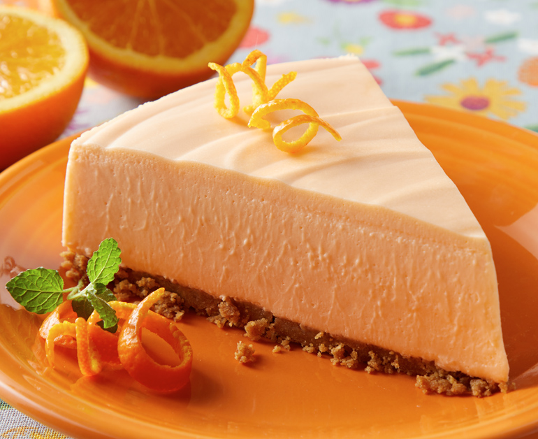 No Bake Orange Cheesecake Daisy Brand Sour Cream Cottage Cheese Recipe Orange Baking Orange Cheesecake Recipes Baking