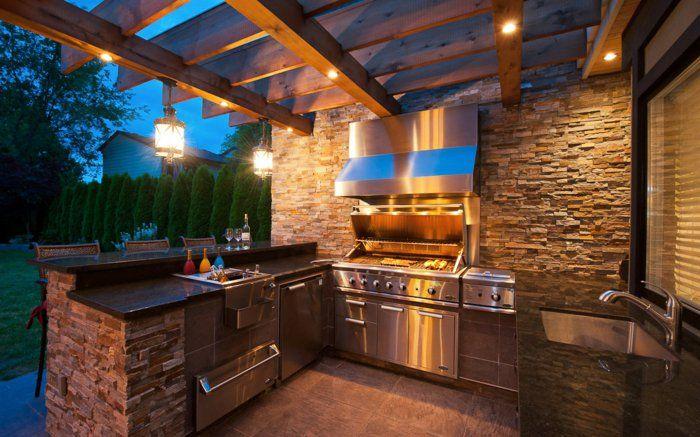 ▷ 1001+idées d\u0027aménagement d\u0027une cuisine d\u0027été extérieure Barbecues