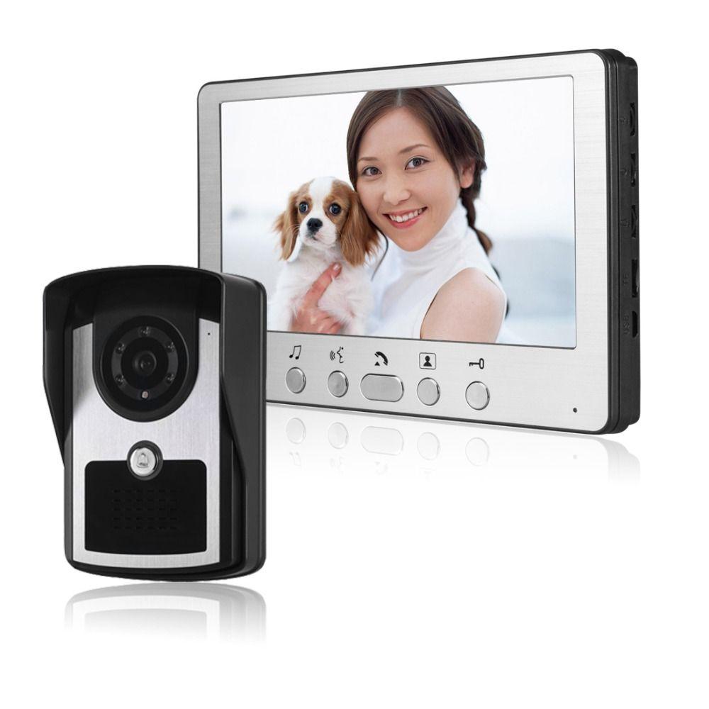 Apartment Intercom System Wired 7 Color Video Door Phone Intercom