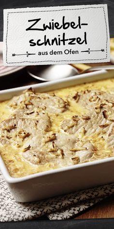 Zwiebelschnitzel aus dem Ofen #schnellepartyrezepte
