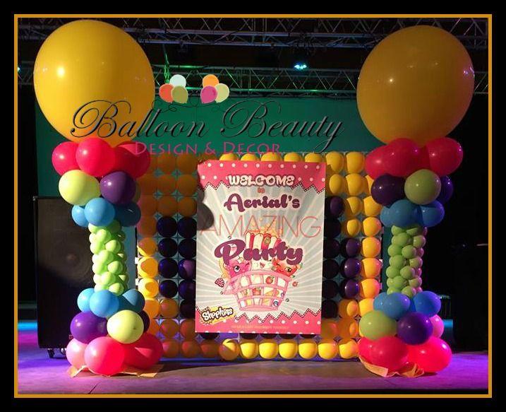 Balloon Decor Shopkins Inspired Balloon Backdrop wwwfacebook