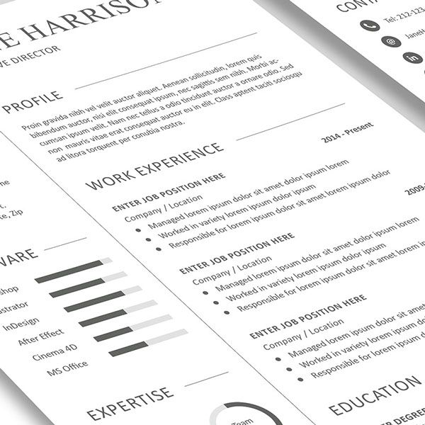 Free Resume Template and Cover Letter on Behance DESING cv