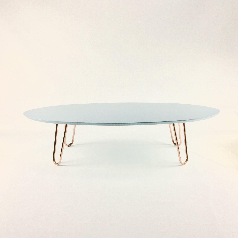Coffee Table With Copper Legs Light Blue White Orange Black