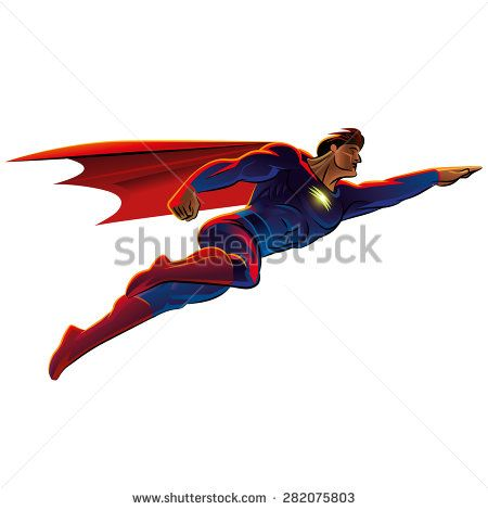 Superhero Flying Vector