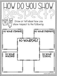 coloring pages showing respect | Classroom Guidance Lesson - Respect | Elementary Education ...