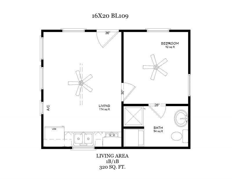 16x20 floor plan | Small home design in 2019 | Cabin floor plans