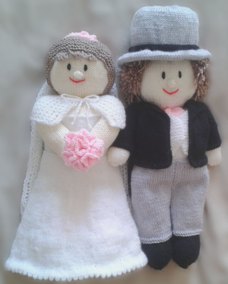 small bride and groom | knitting patterns | Pinterest | Knitting ...