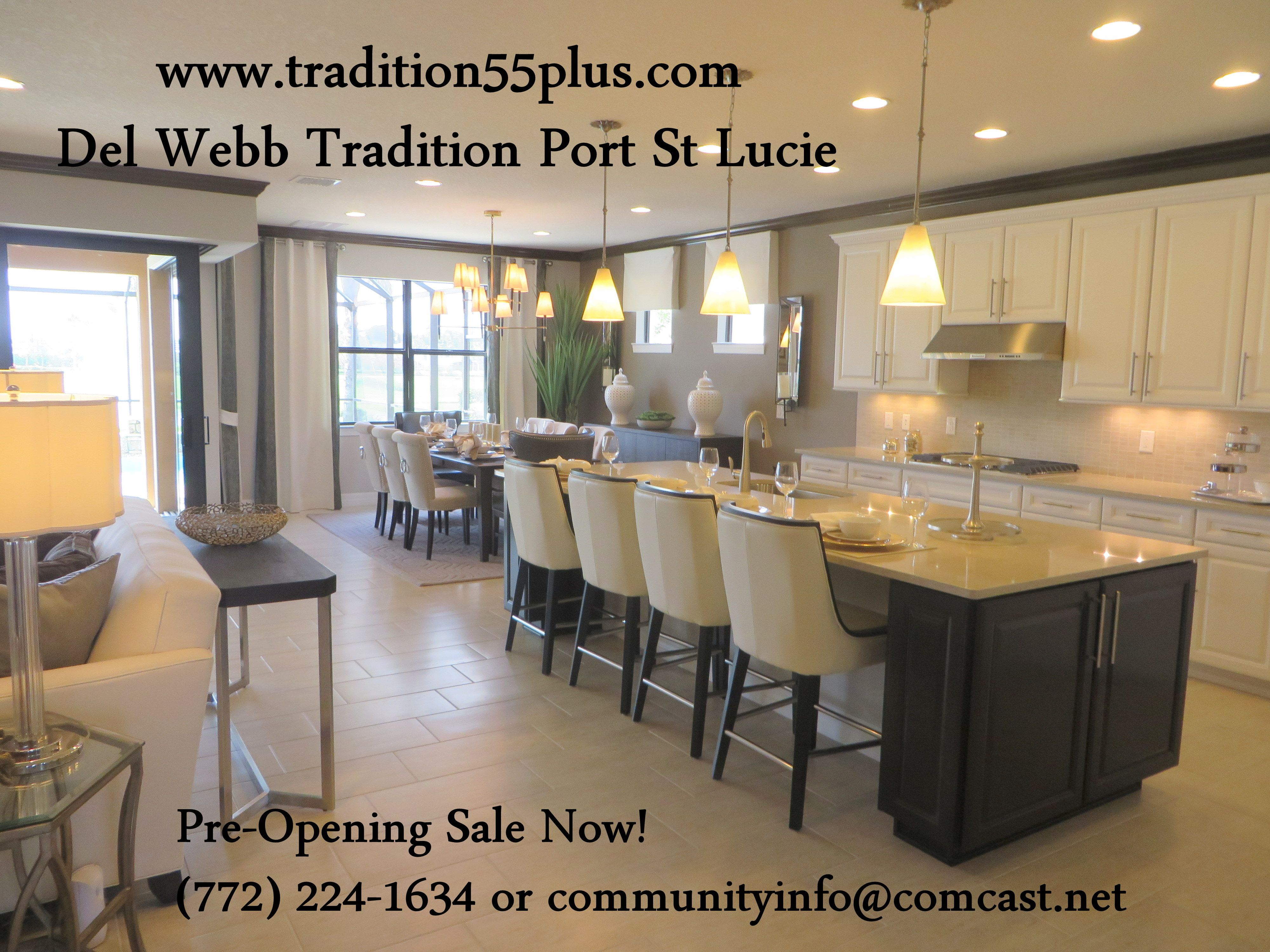 Del webb tradition preopening sale now pre opening