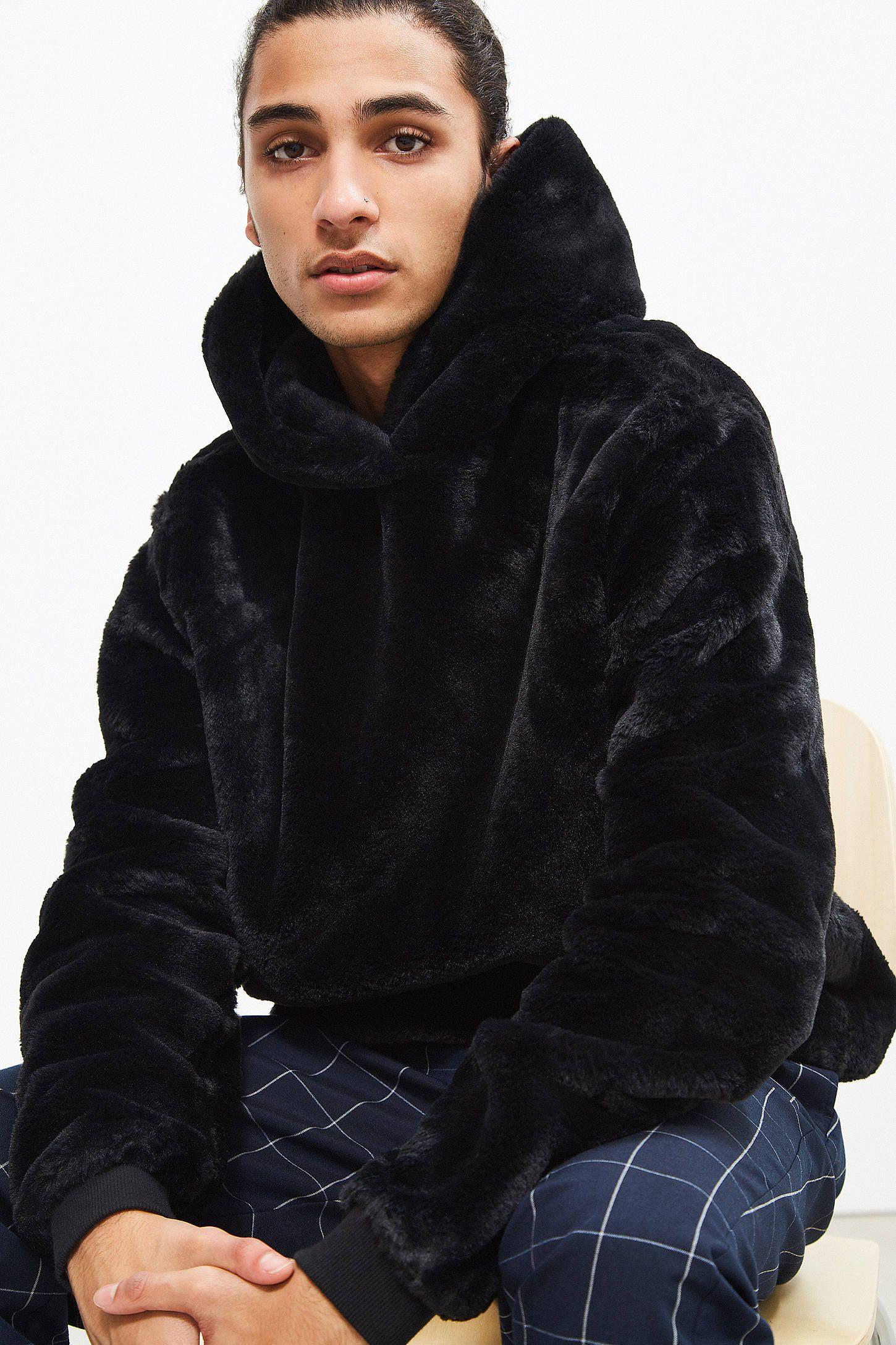 cb8915632dab UO Faux Fur Hoodie Sweatshirt in 2019