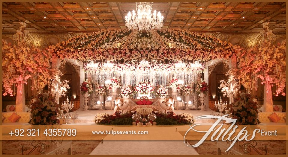 Tulips event best pakistani wedding stage decoration flowering for tulips event best pakistani wedding stage decoration flowering for mehndi walima barat stages dcor services provider in lahore pakistan junglespirit Images