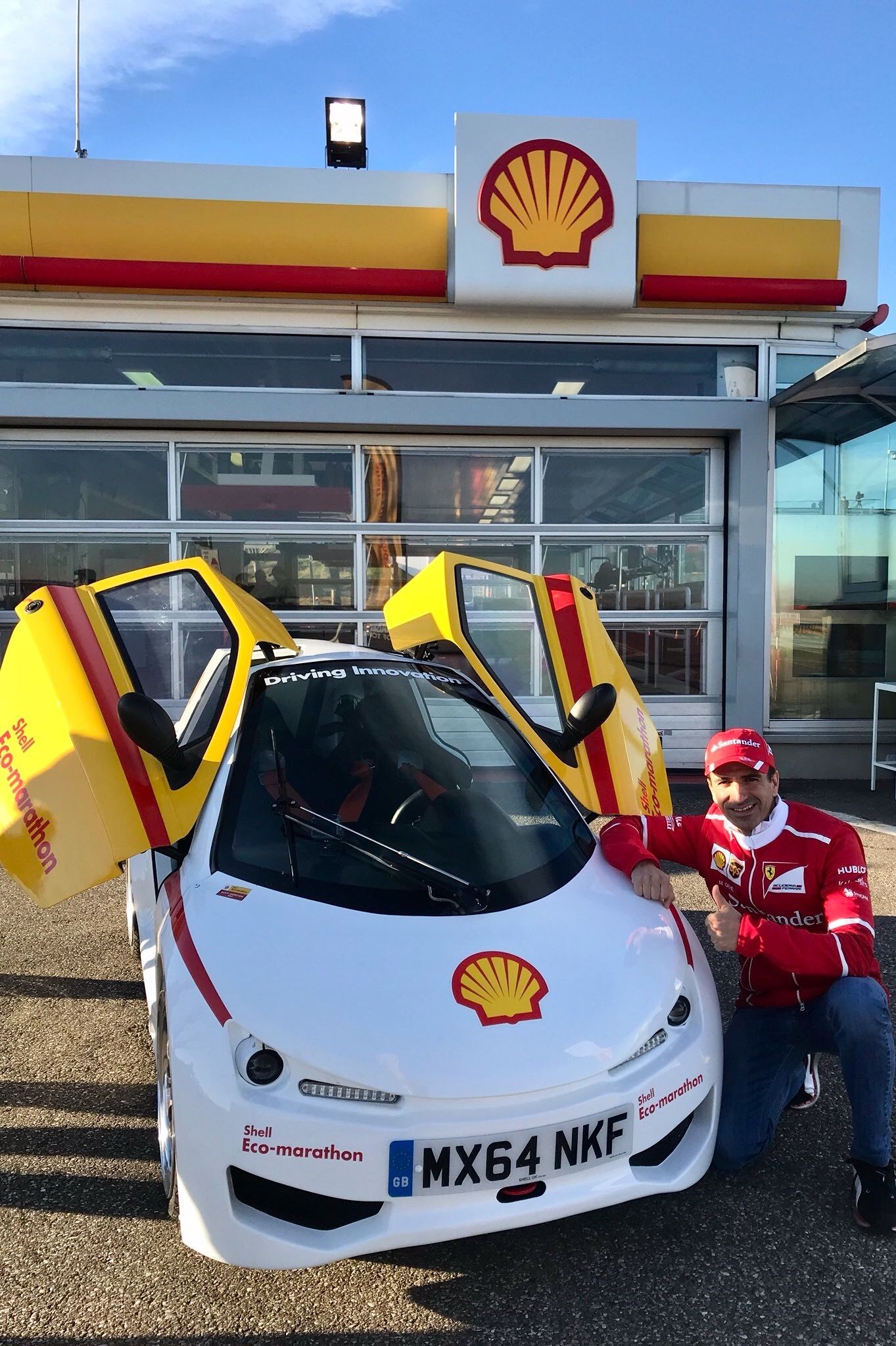 2017/12/5:Twitter: @marc_gene : At #Fiorano today #DriversWorldChsmpionship #shellecomarathon This car has only 100ml fuel tank!! @ShellMotorsport.