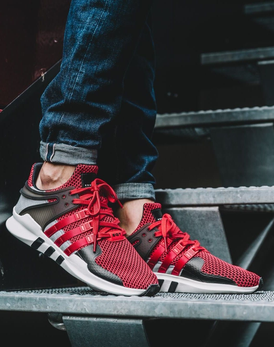 adidas EQT Support ADV: Red | Sneakers men fashion, Sneakers