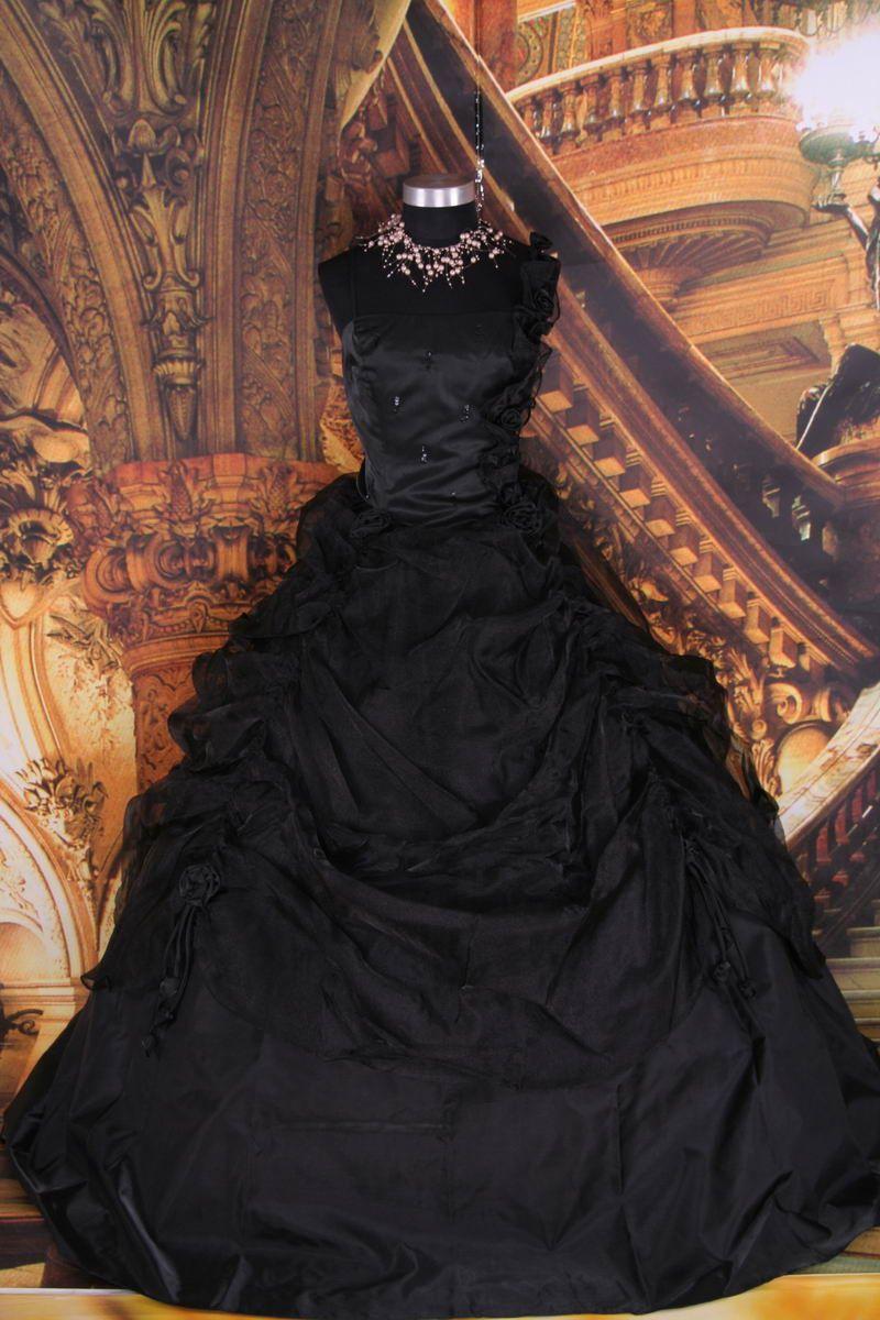 Gothic prom dresses gothic wedding dresses pure black for Vintage gothic wedding dresses