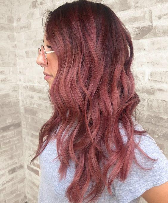 35 Bezaubernde Rotgold Haarfarben Altrosa Haar Hellbraune Haarfarbe Haarfarben