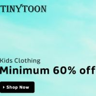 Flipkart Kid's Clothing 60% OFF + Rs.100 OFF on Rs.250 Offer : Buy Kid's Clothing Lowest Price - Best Online Offer