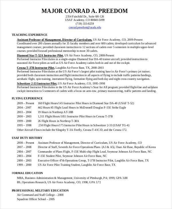 Airline Pilot Resume Sample Elegant Pilot Resume Template 5 Free Word Pdf Document Downloads Resume Resume Template Cover Letter For Resume