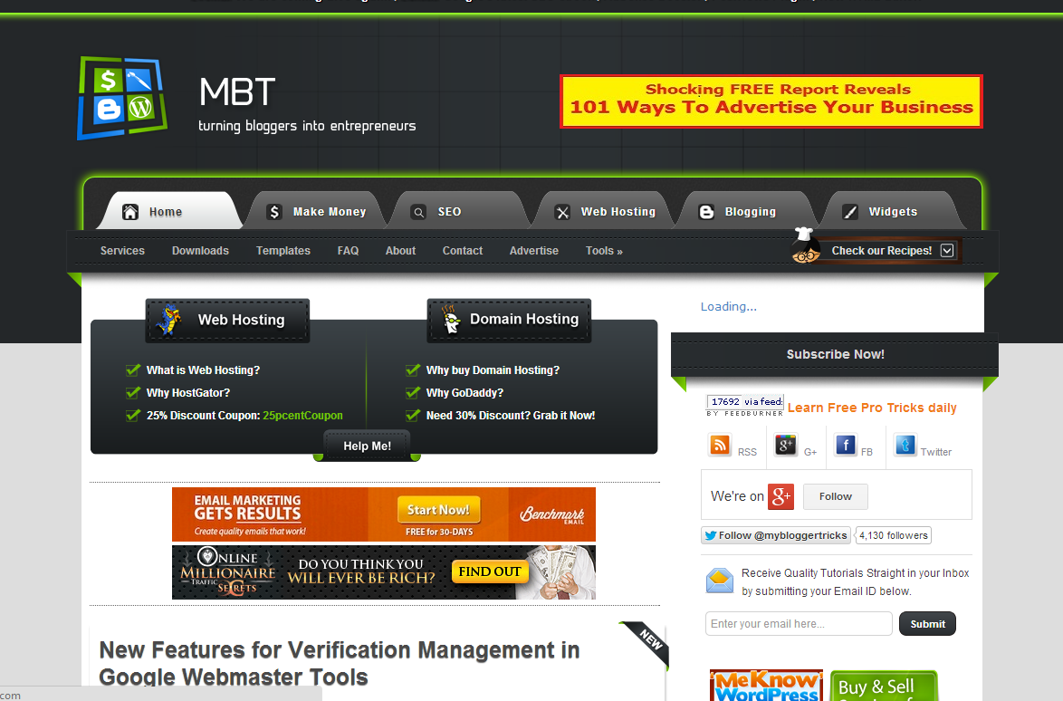 mbt is my blogger trick template exilant design www ...
