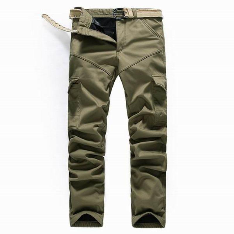 Men s Winter Polar Fleece Lined Combat Trousers Thick Cotton Multi Pockets Cargo  Pants - Gchoic.com 0c4b62d89b