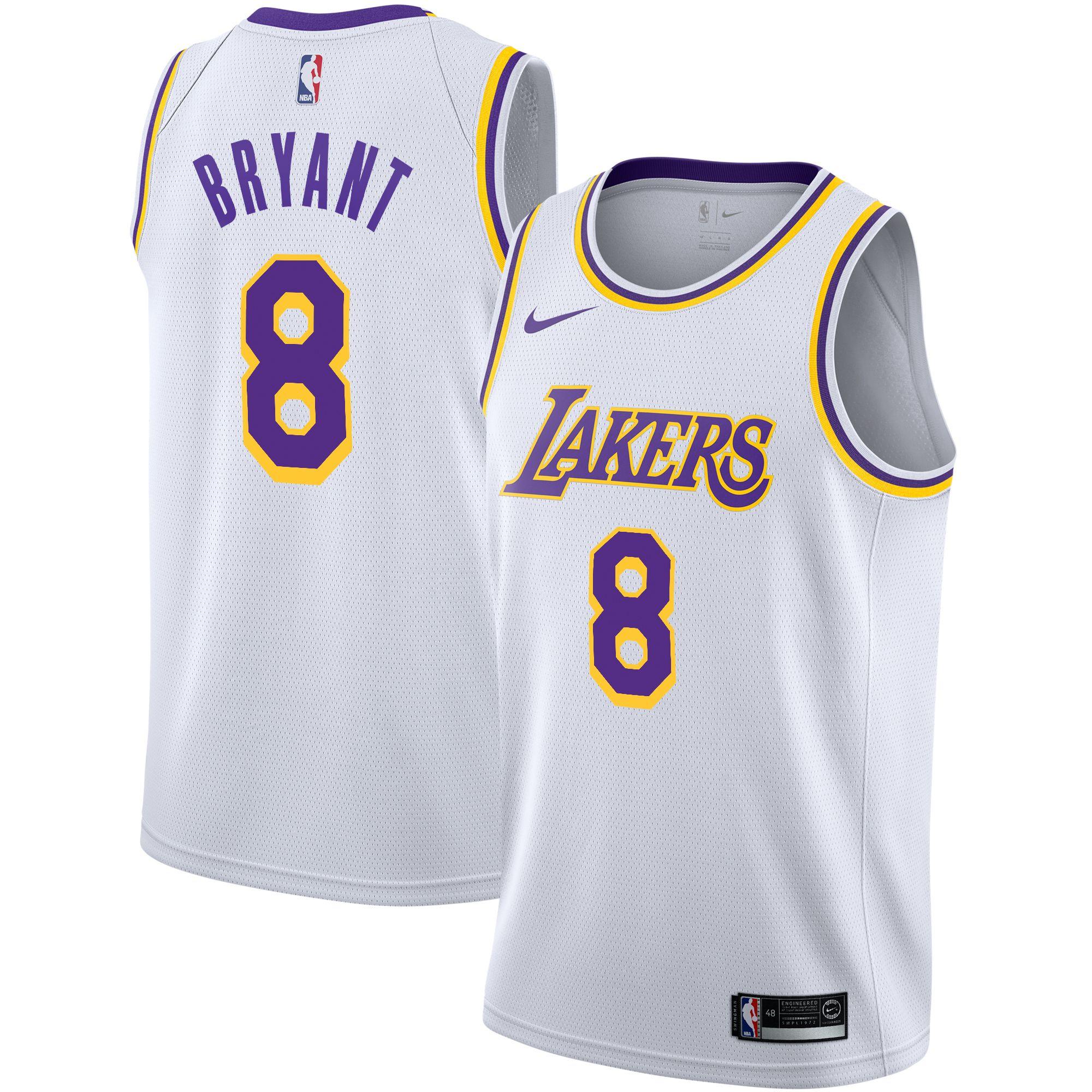 Kobe Bryant Los Angeles Lakers Nike Swingman Jersey White ...