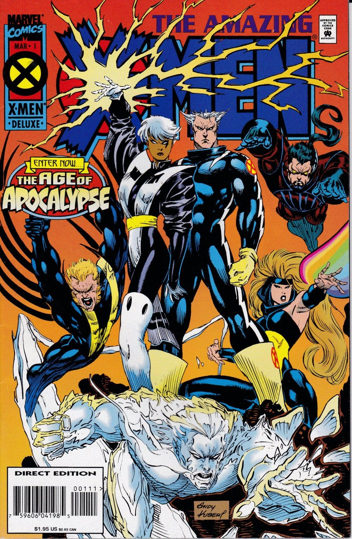 Amazing X Men 1 1995 Series March 1995 Marvel Comics In 2020 Marvel Comics Covers Comics Comic Books Art