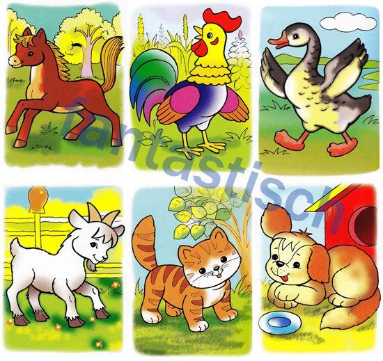 Пазлы: мультяшные фермерские животные