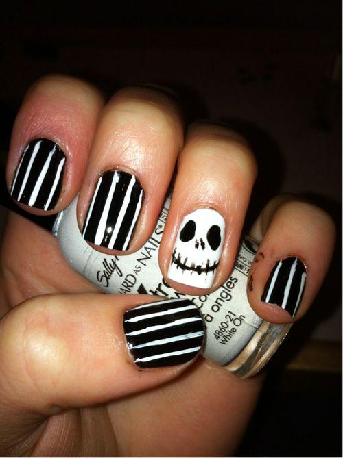 Jack Skellington :) Nails | ☠ Jack Skellington ☠ | Pinterest ...