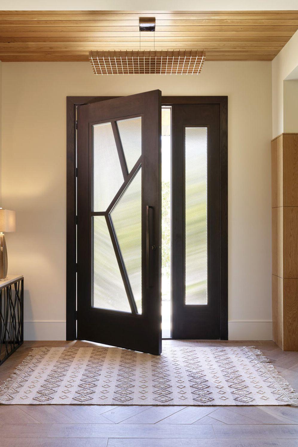 Modern Asymmetrical Entryway Door Design Interior Door Design Modern Door Glass Design