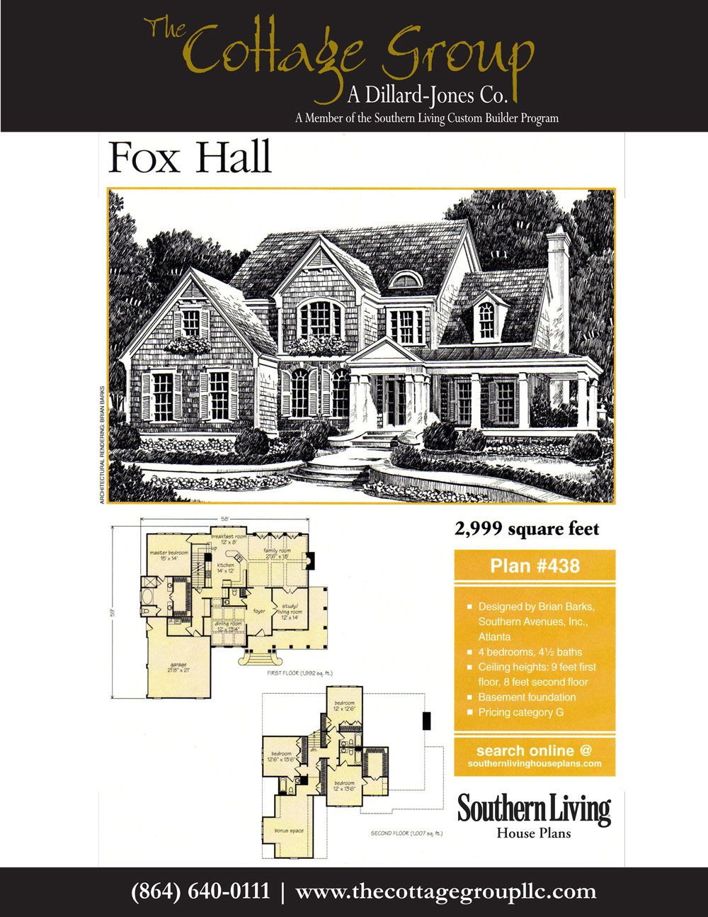 Fox Hall : The Cottage Group | Southern Living House Plans ...
