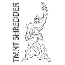 tmnt coloring pages shredder machine - photo#25