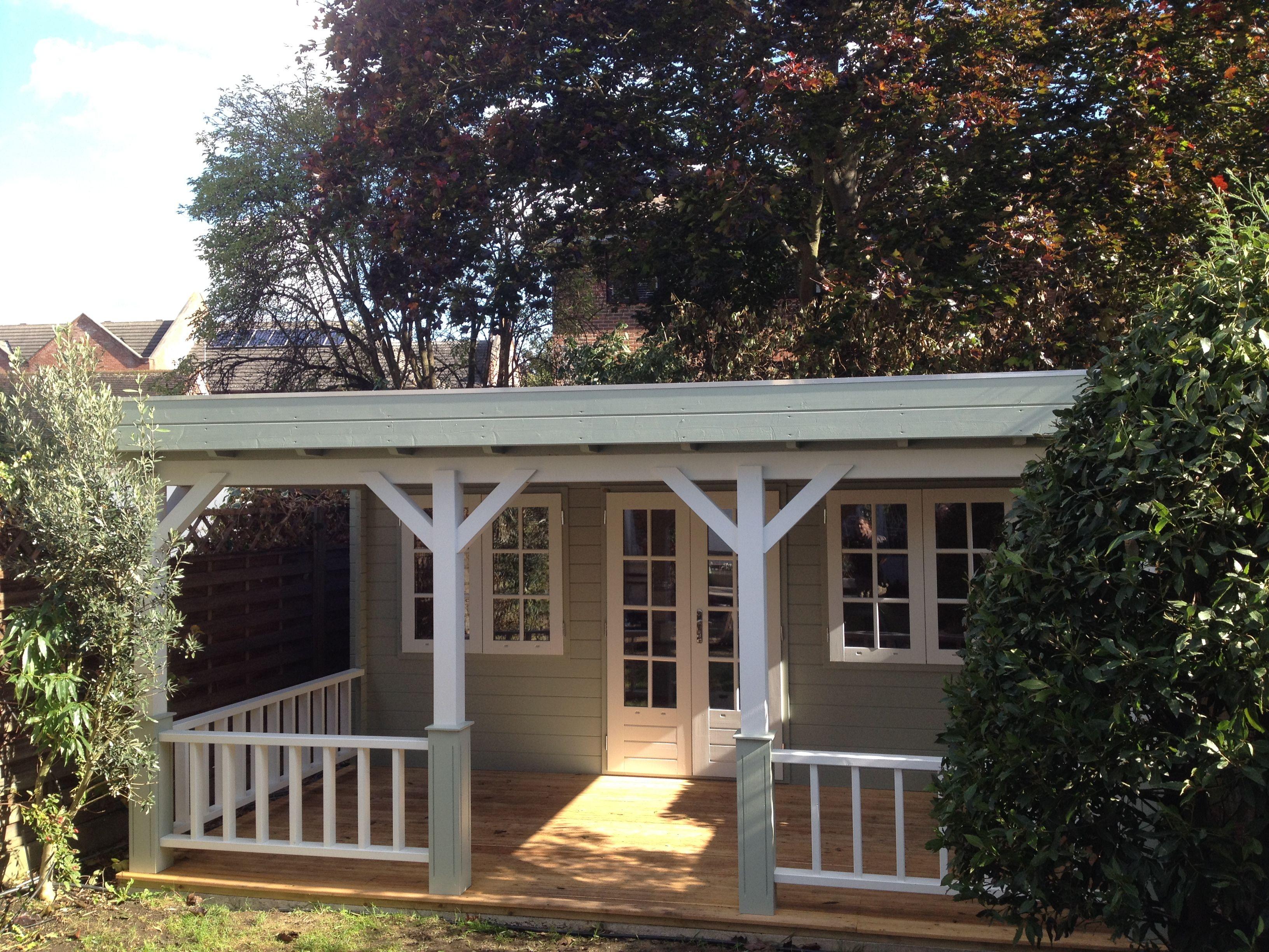 contemporary garden studio with veranda by garden affairs - Garden Sheds With Veranda