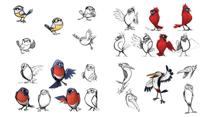 Pin By Fasm Creative On Bird Characters In 2019