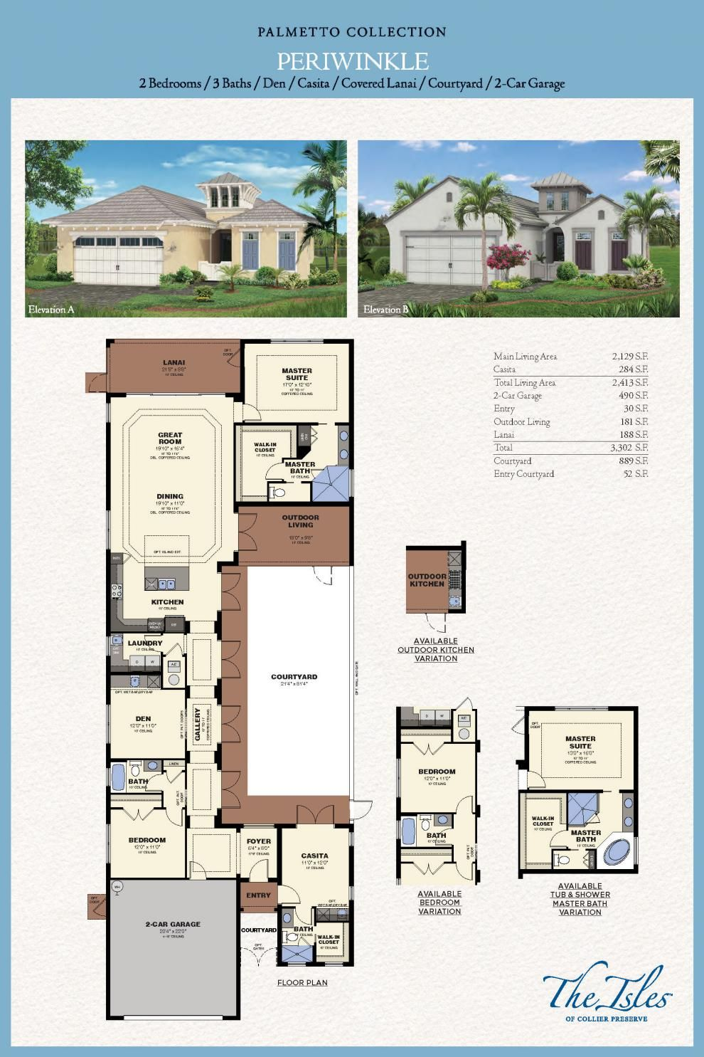 Isles of Collier Preserve - Periwinkle Model - Naples FL | Minto ...