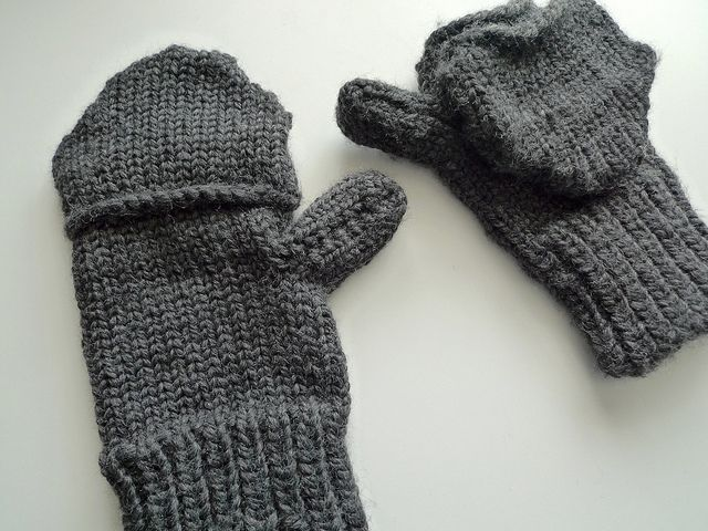 Knitting Mittens On A Loom : Love these men s loom knit convertible mittens on kk