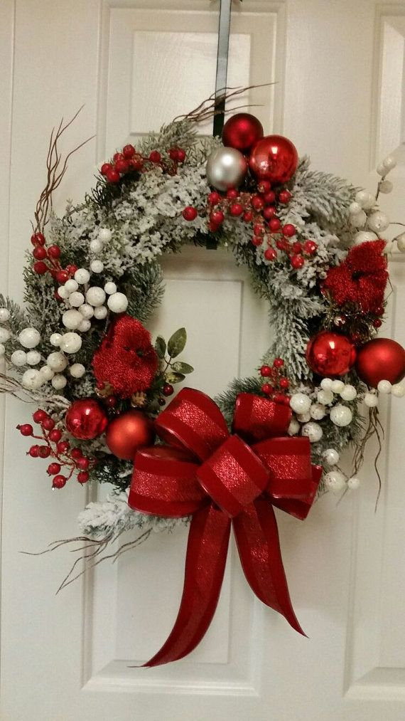 Christmas wreath canadian handmade by victoriafloralshop for Decoracion christmas navidenos