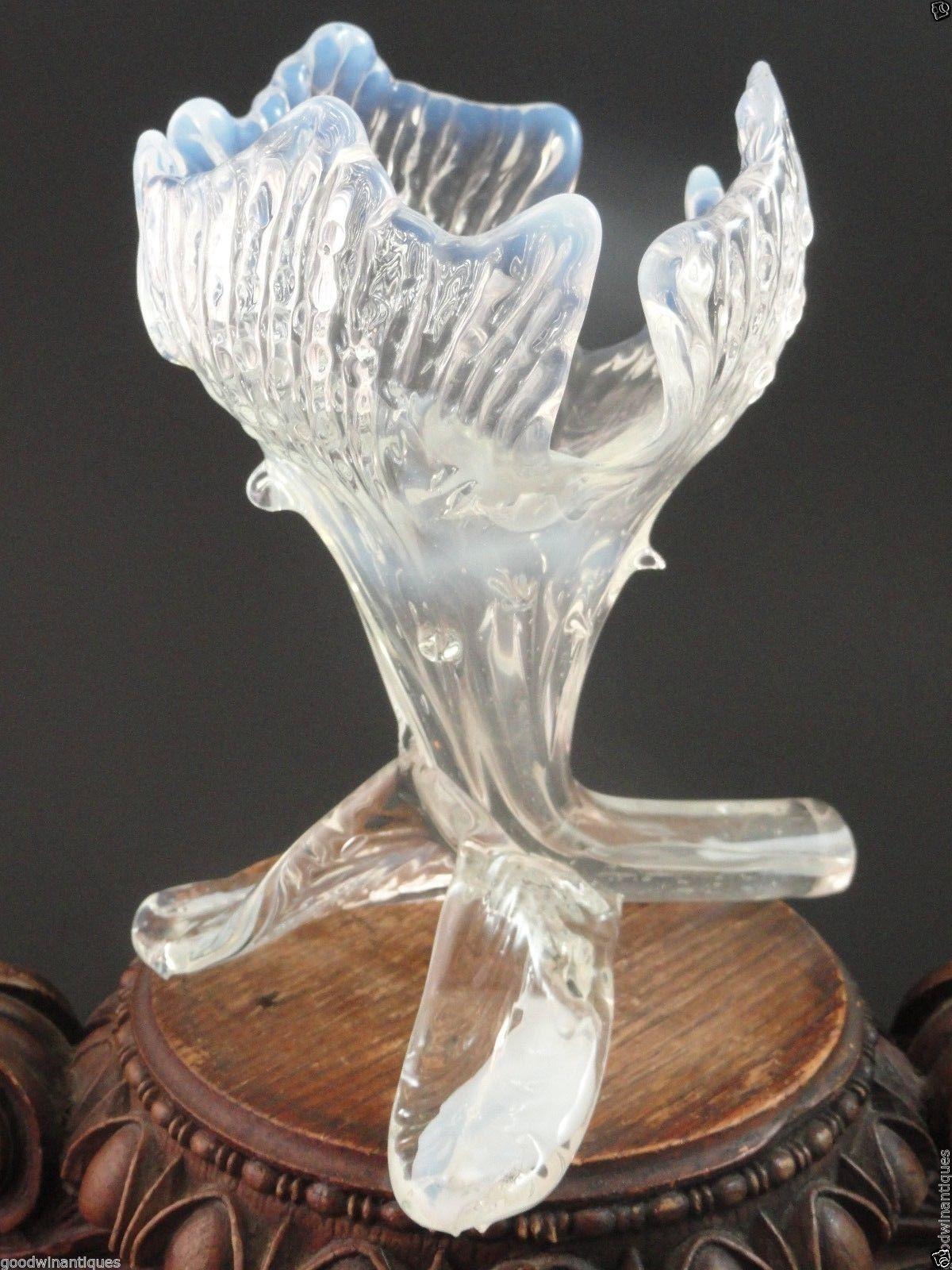 6 antique bohemian kralik opalescent floriform art nouveau glass 6 antique bohemian kralik opalescent floriform art nouveau glass vase w thorns ebay reviewsmspy