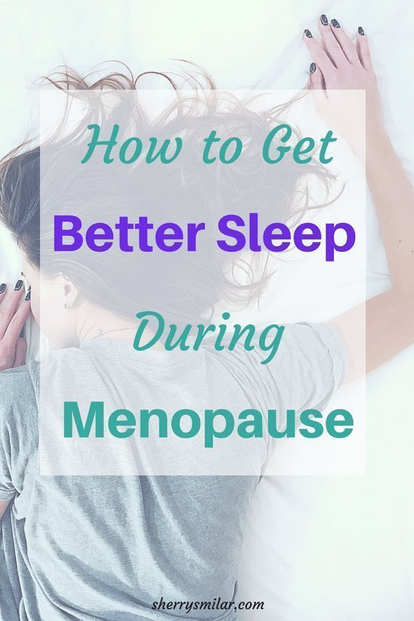 Improving Sleep During Menopause