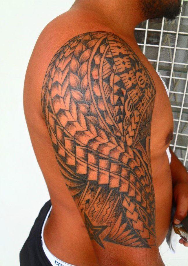 tatouage polynesien samoen fidji homme bras paule. Black Bedroom Furniture Sets. Home Design Ideas