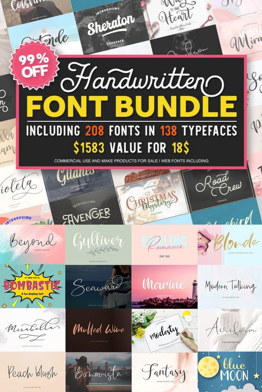Download Font Bundle in 2020   Font bundles, Font packs, Unique fonts