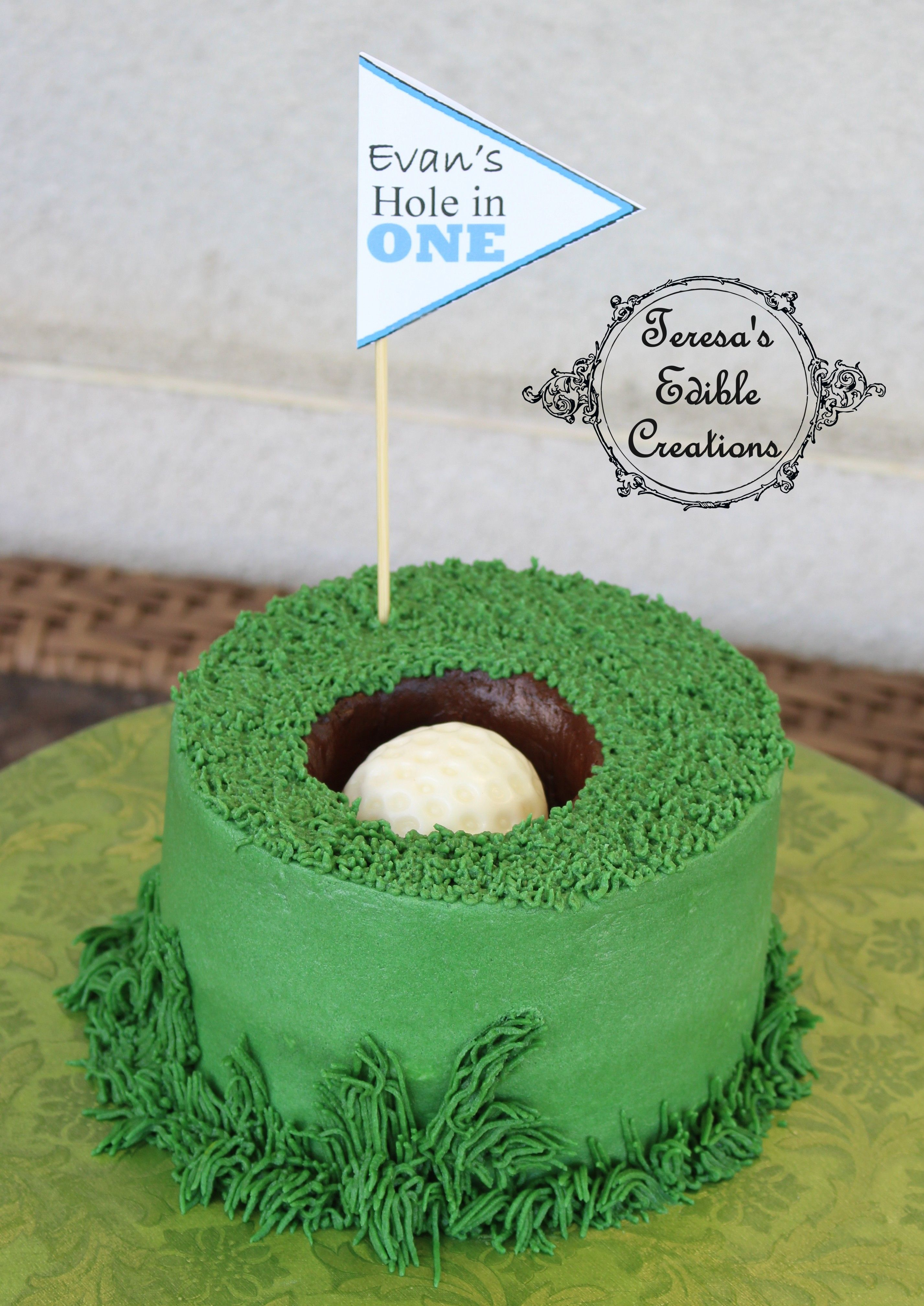 Golf Hole In One Smash Cake My Cake Creations In 2019