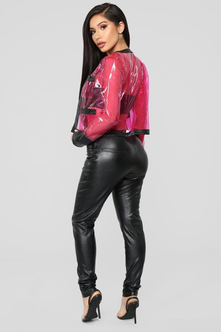 0f6f0cdcb5ea3 PVC You Later 3 Piece Set - Fuchsia/Black in 2019   Leather Pants ...
