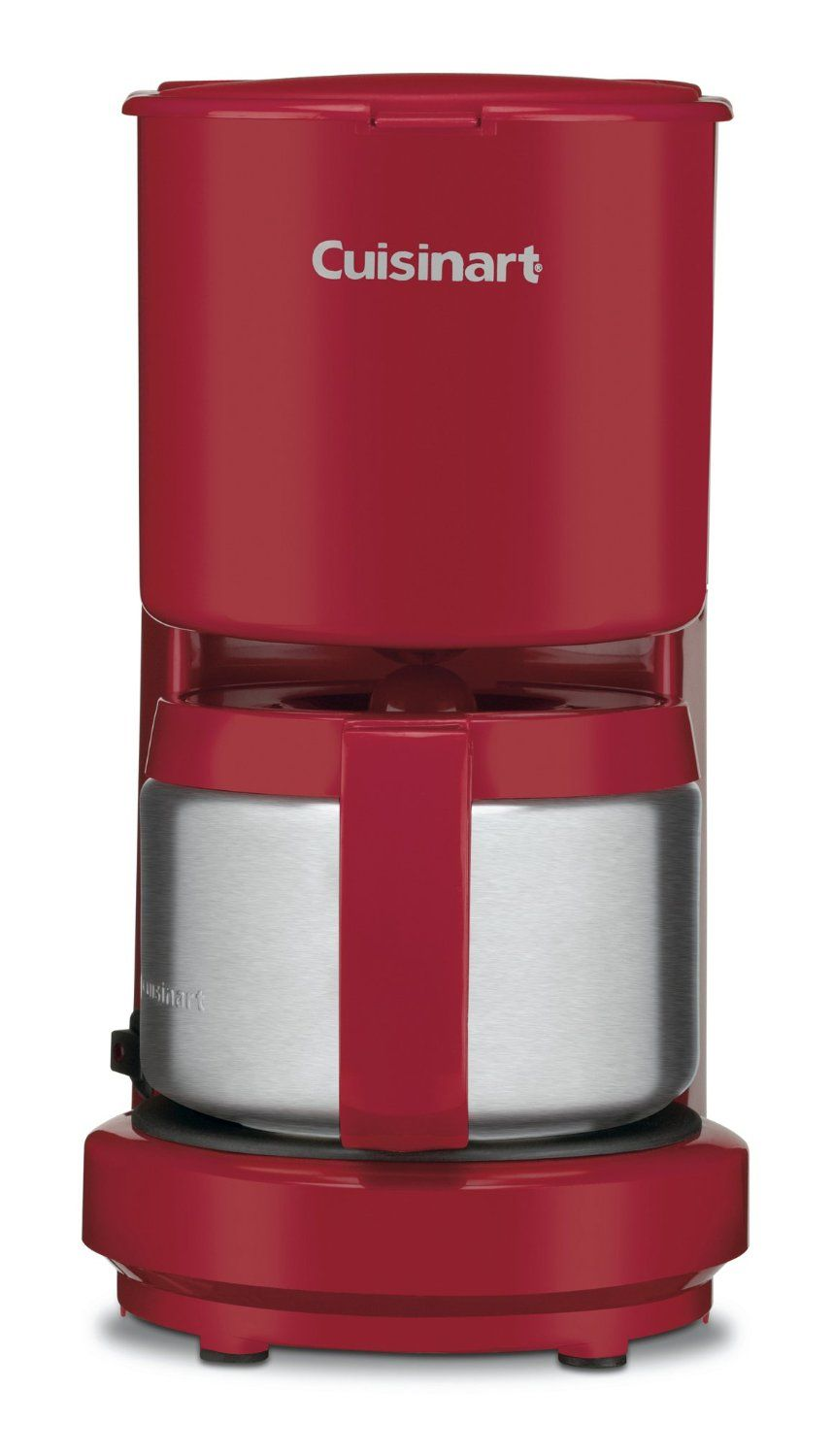 Amazon Com Cuisinart Dcc 450r 4 Cup Coffeemaker With Stainless Steel Carafe Red Kitchen Dining Coffee Maker 4 Cup Coffee Maker Red Coffee Maker