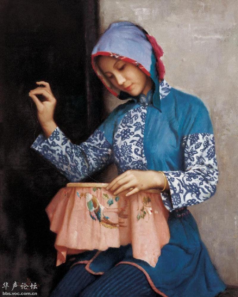 织绣女 de Jiang Changyi (chinois)